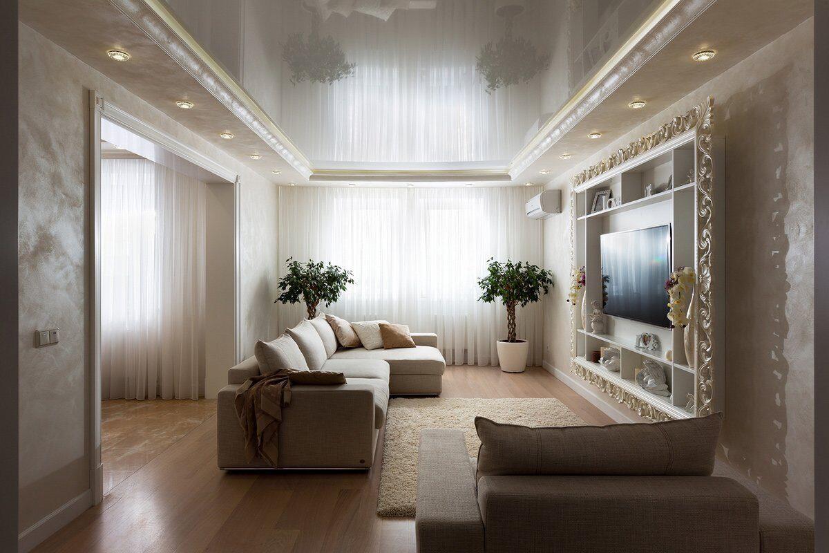 натяжные потолки фото для зала в квартире будут стоить